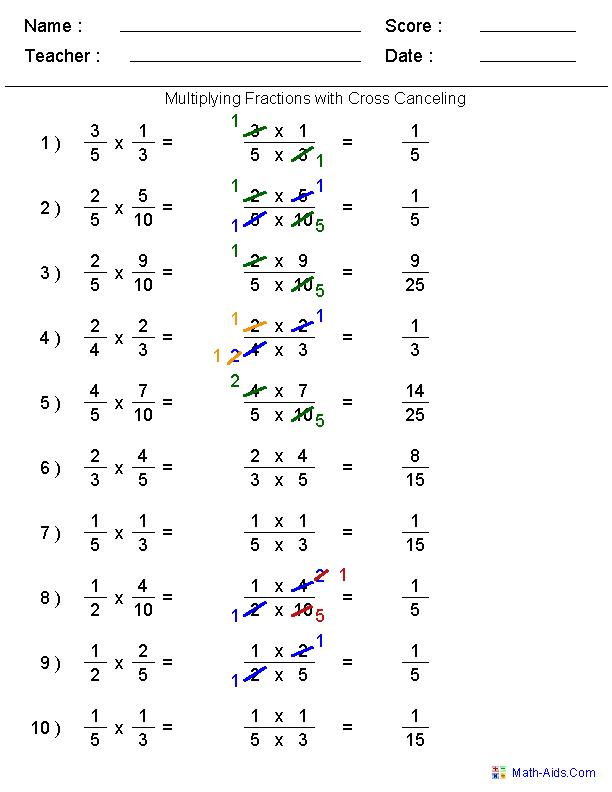 Multiplying Fractions 5th Grade Worksheets The Best Worksheets