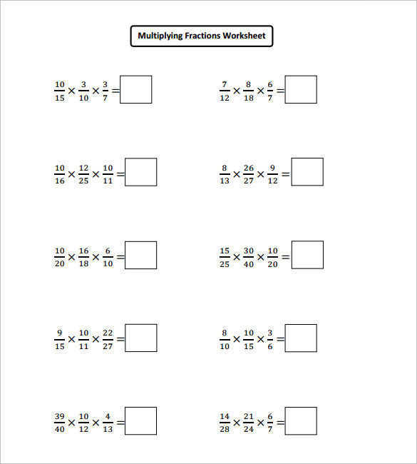 Multiplying Fractions Worksheet Pdf Worksheets For School Leafsea