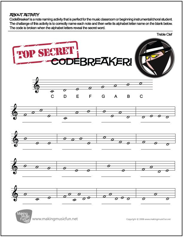 Music Note Name Worksheet The Best Worksheets Image Collection