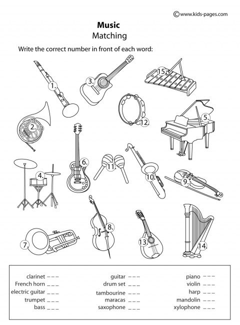 Music Worksheets For Kids The Best Worksheets Image Collection