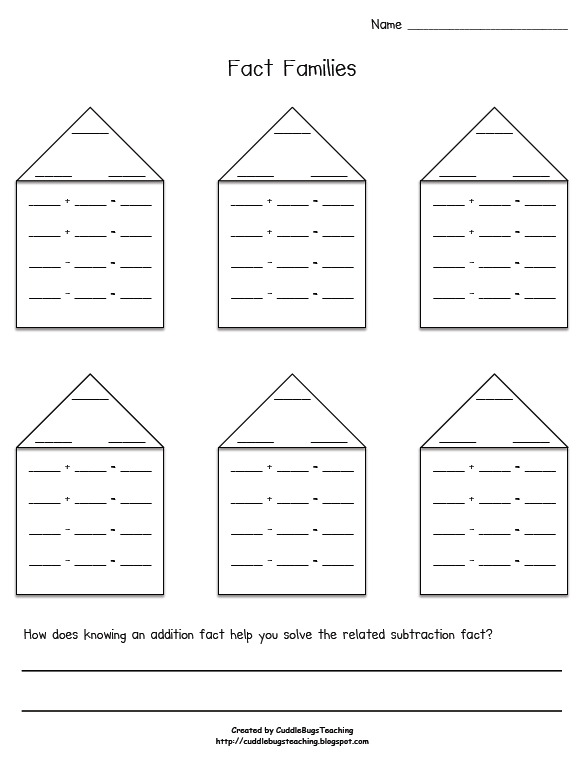Number Family Worksheets The Best Worksheets Image Collection
