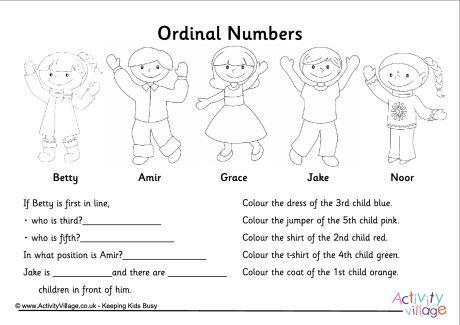 Ordinal Numbers Games Worksheets Best Of Ordinal Numbers Questions