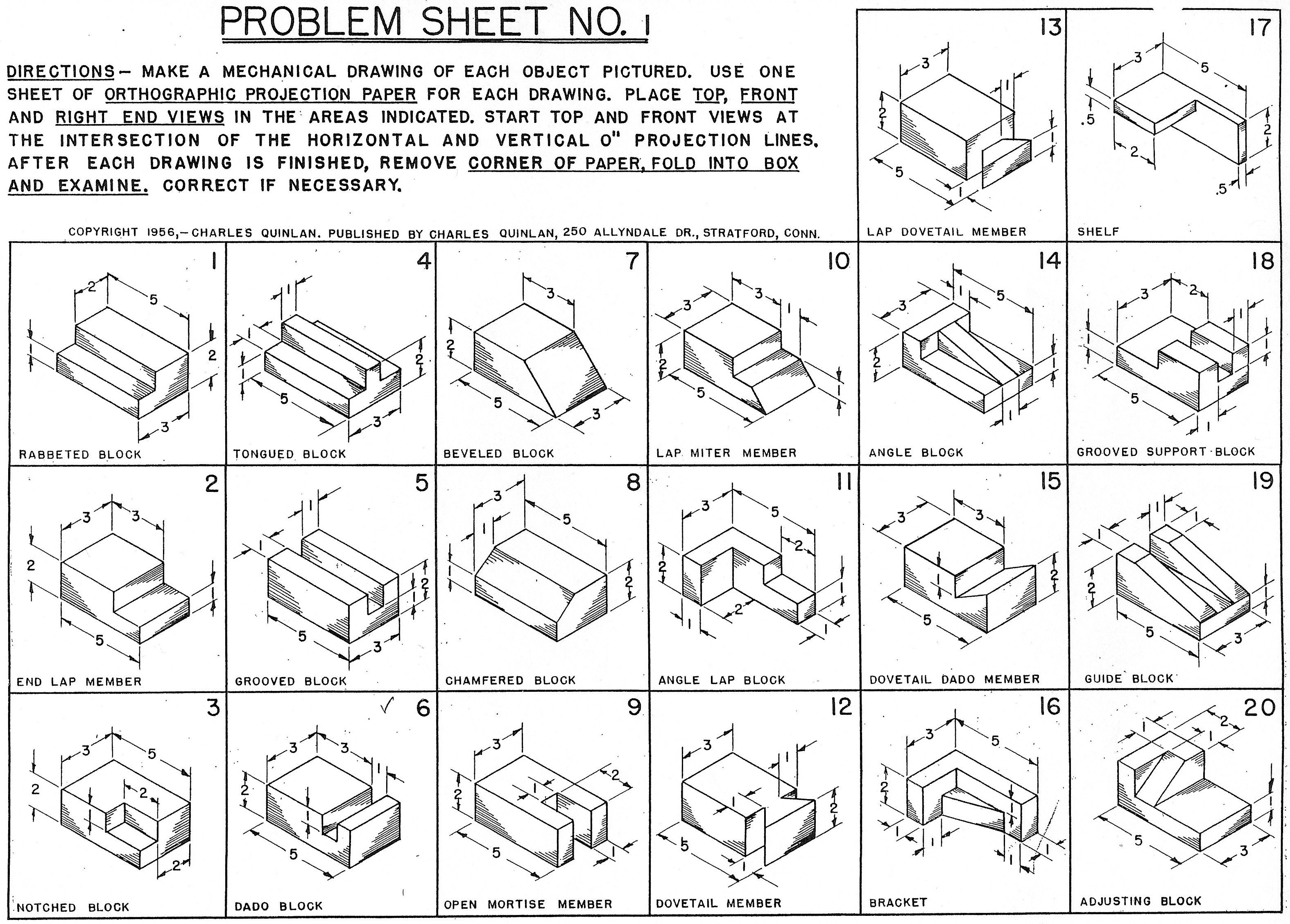 Orthographic Projection Worksheets 302869