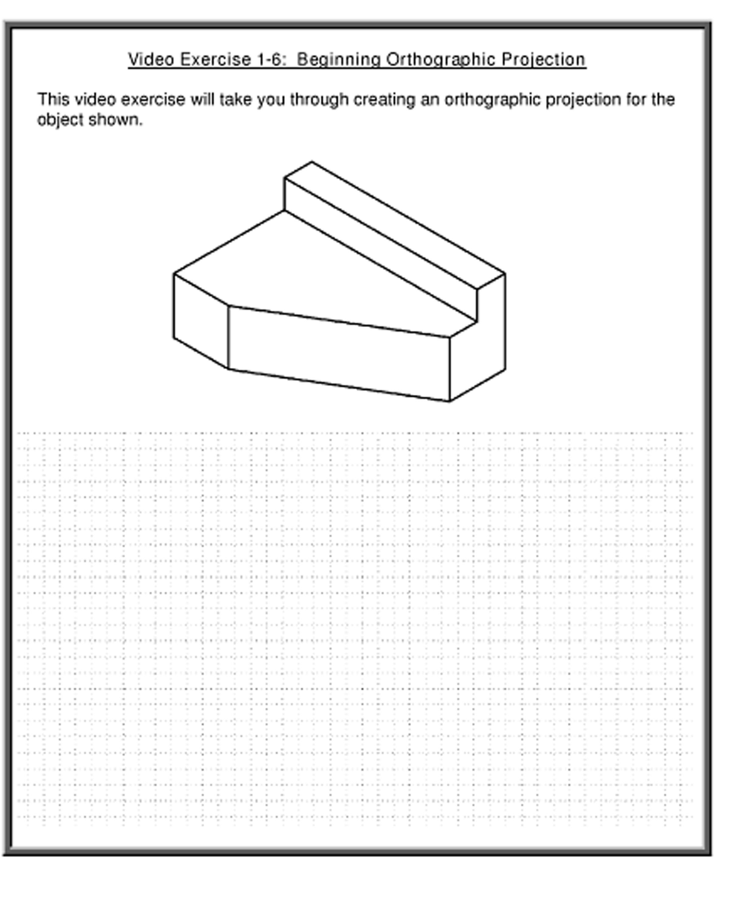 Orthographic Projection Worksheets 302886