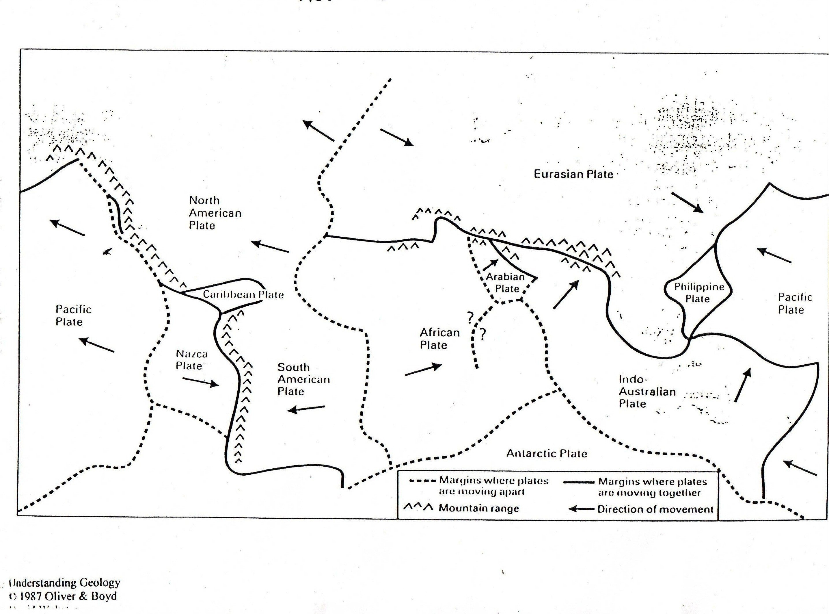 Plate Tectonic Boundaries Worksheet 843934