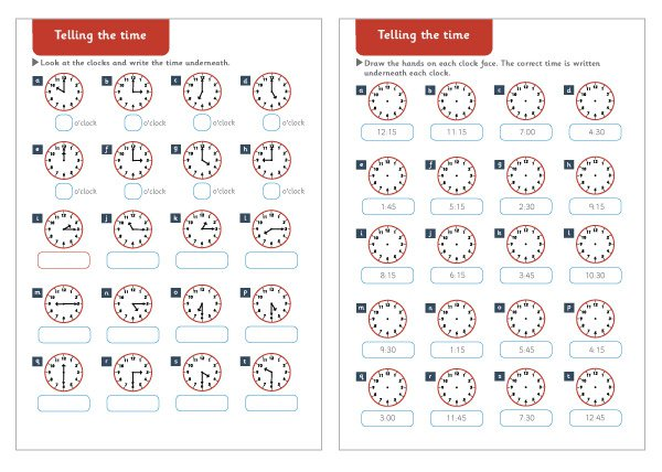Pleasing Maths Worksheets Free Ks1 In Telling The Time Maths