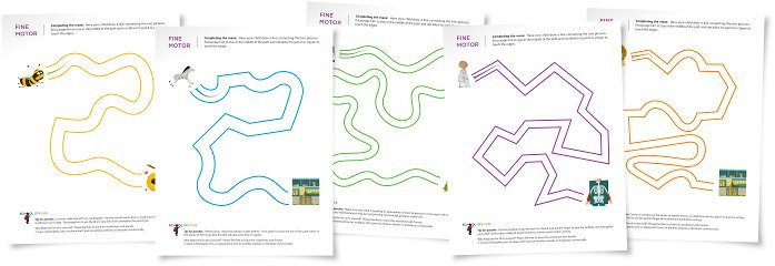 Practice Fine Motor Skills With Mazes For Kids