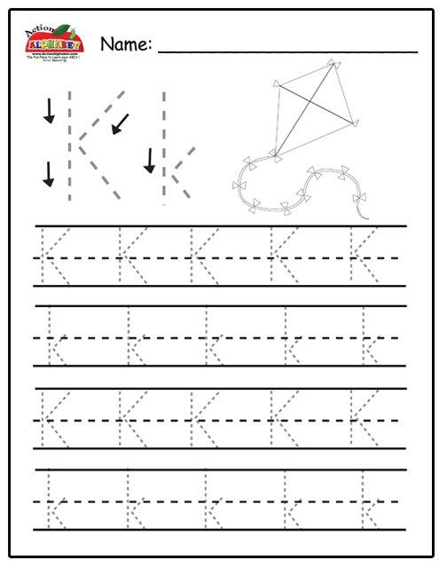 Pre Kindergarten Letter Tracing Worksheets 3738