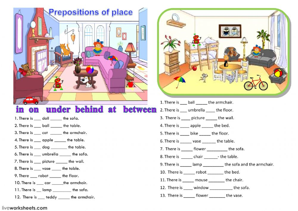 Preposition Of Place Worksheet Grade 3 306931