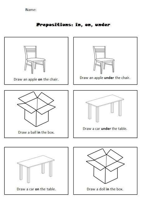 Preposition Worksheets For Kindergarten The Best Worksheets Image