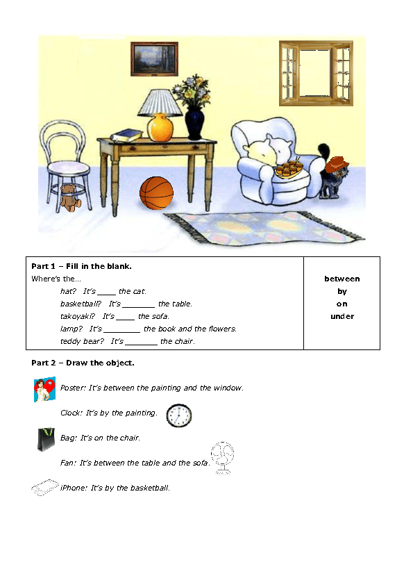 Prepositions Of Place Worksheets For Kindergarten Pdf 434018