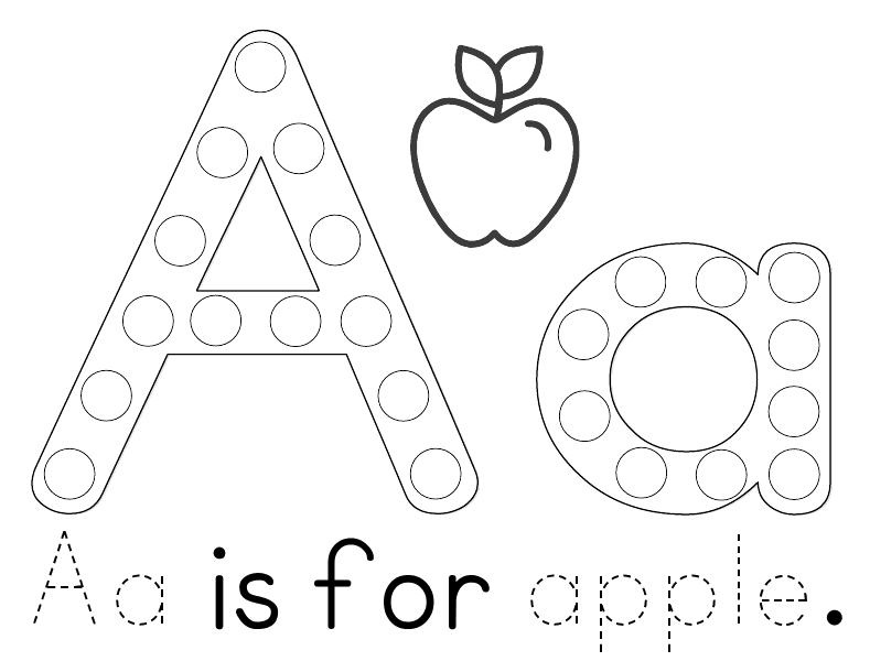 Preschool Apple Printables 1405364