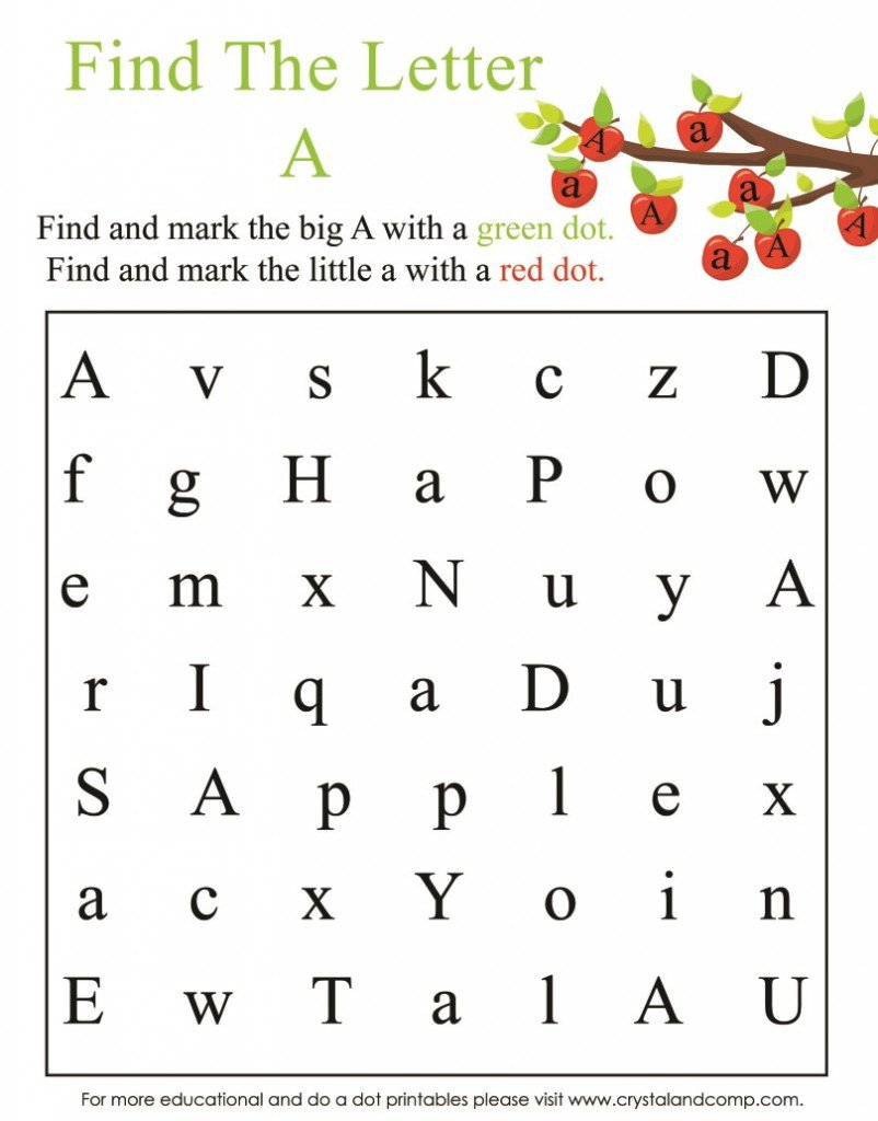 Preschool Apple Worksheet 617766