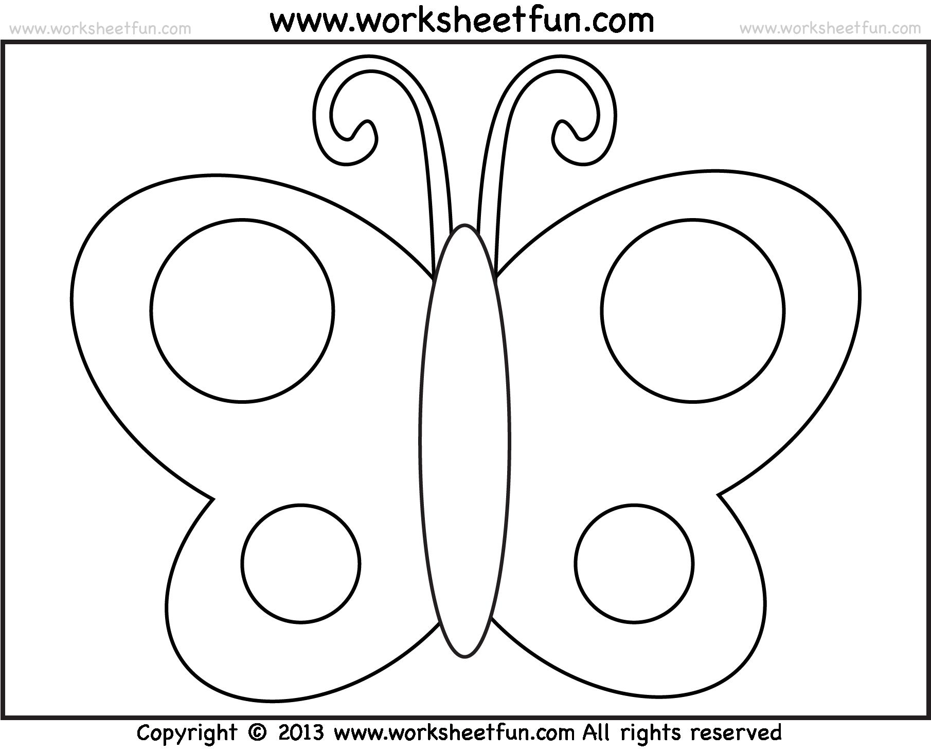 Preschool Butterfly Worksheets 1157853