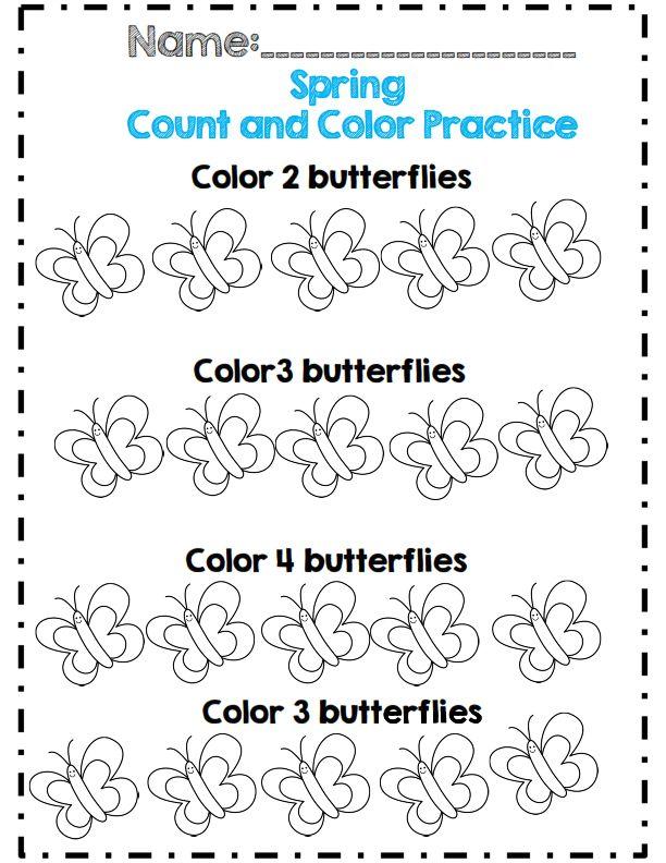 Preschool Butterfly Worksheets 1157873
