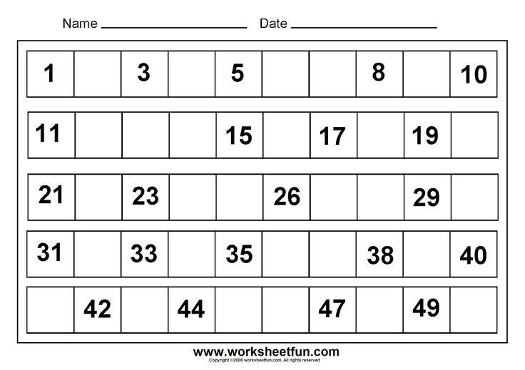 Preschool Printable Math Worksheets 84903