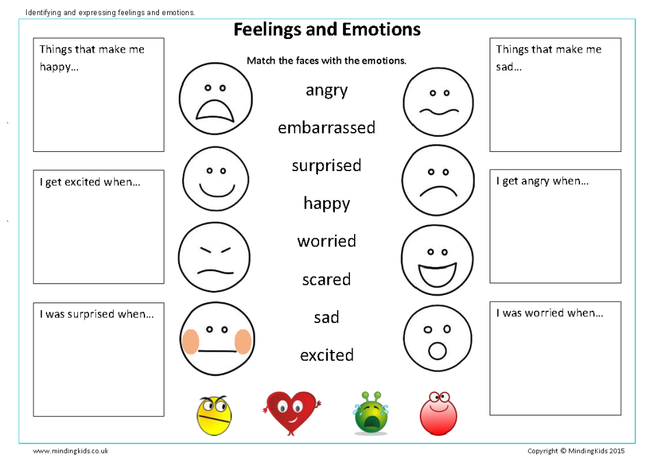 Preschool Worksheet Emotions