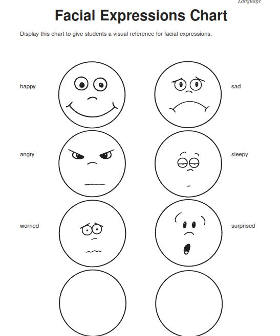 Preschool Worksheets Feelings Emotions 781818