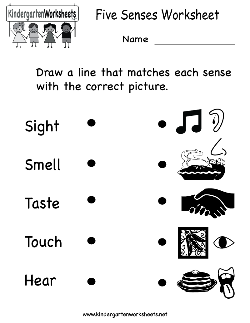 Preschool Worksheets Five Senses 222164