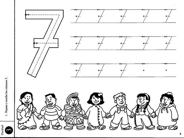 Preschool Worksheets For Number 7 721273