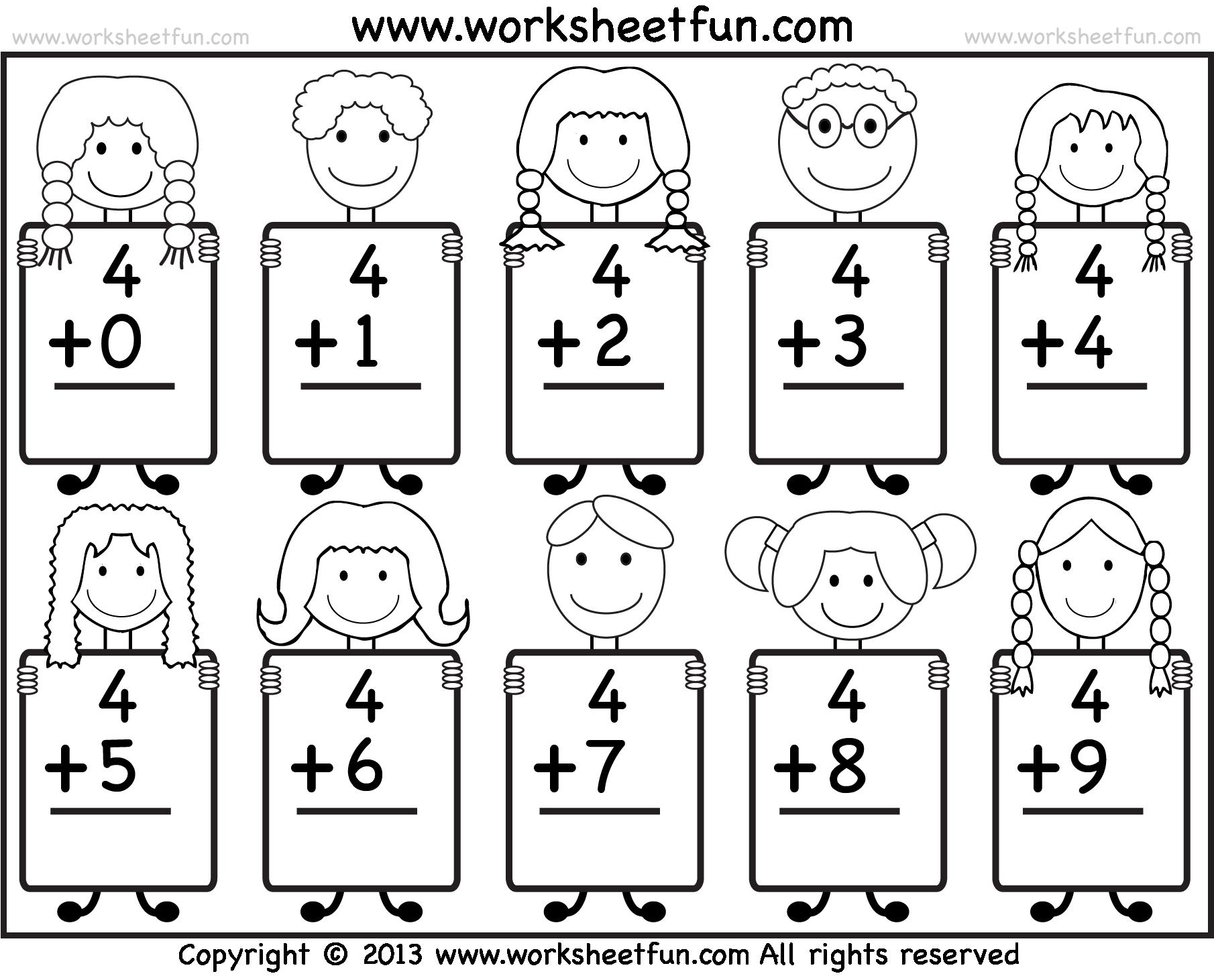 Printable Addition Worksheets For Kindergarten The Best Worksheets