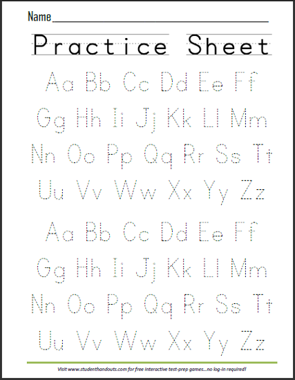 Printable Alphabet Worksheets Abcs Dashed Letters Alphabet Writing