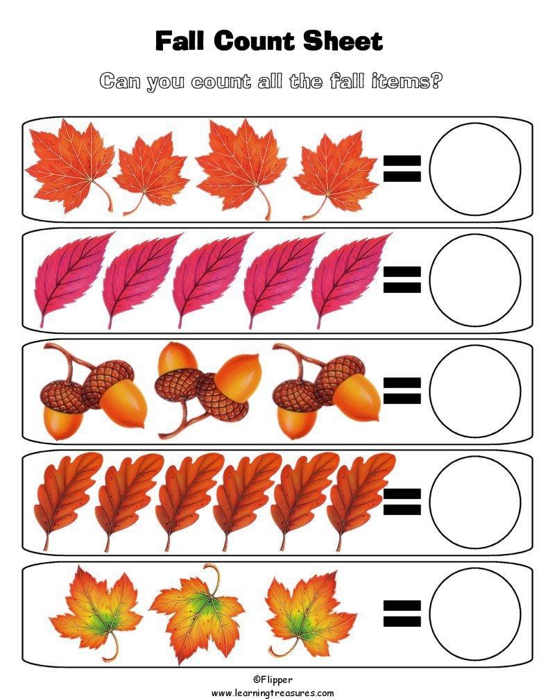 Printable Autumn Preschool Worksheets 924353