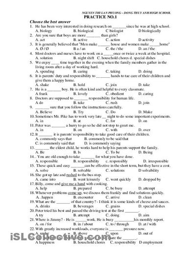 Printable High School English Worksheets The Best Worksheets Image