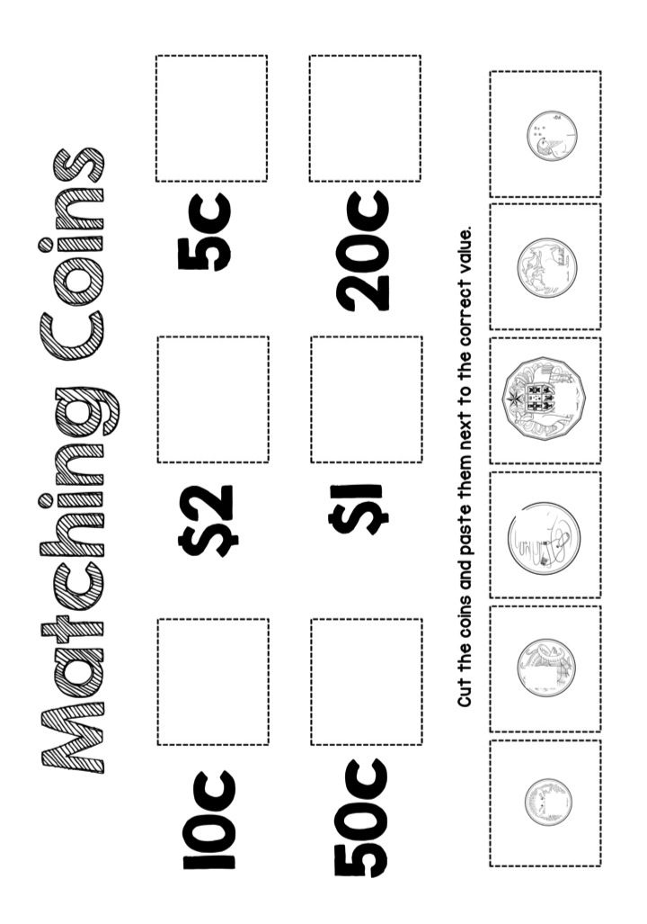 Printable Maths Worksheets Money Australia 371664