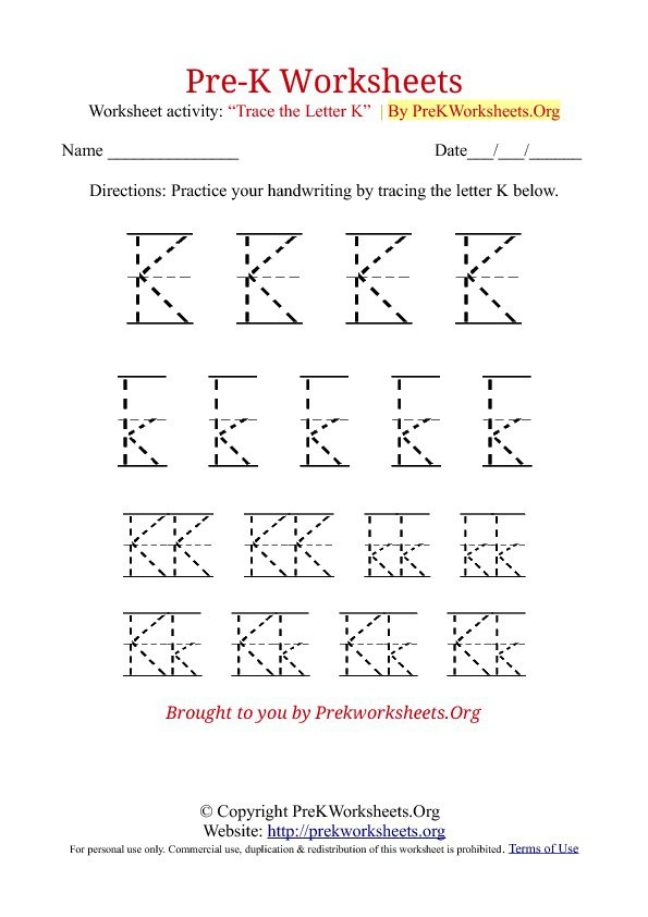 Printable Pre K Worksheets Free The Best Worksheets Image