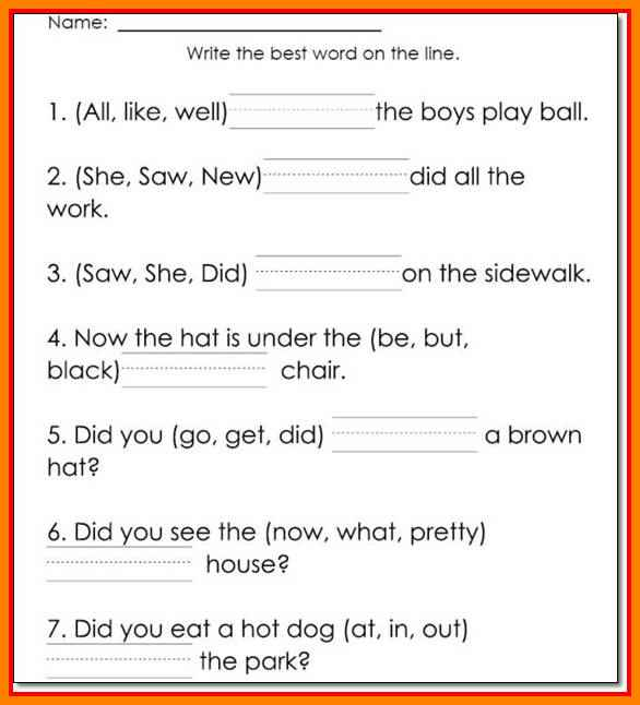 Printable Reading Worksheets 5 1st Grade Reading Worksheets Thin