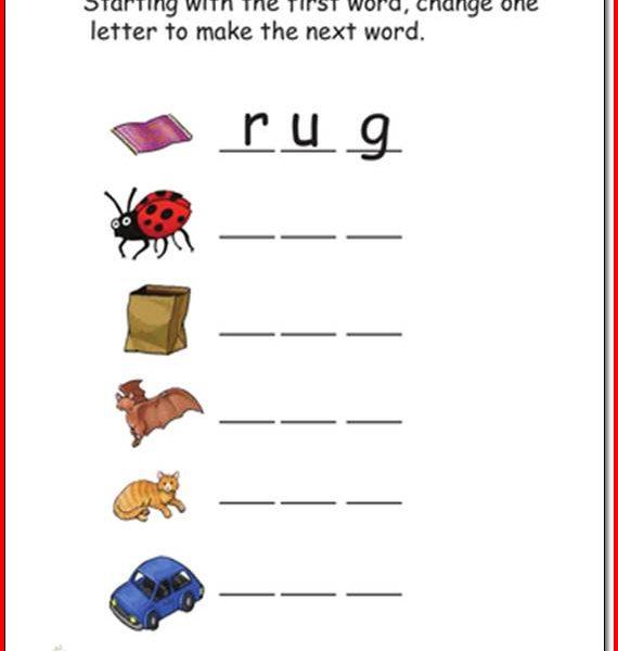 Printable Reading Worksheets For Kindergarten 587290