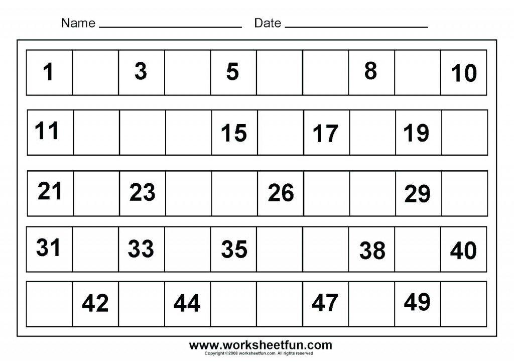 Printable Worksheets For Kindergarten Math 512302
