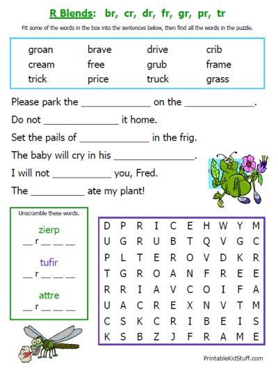 Printable Worksheets On Consonant Blends For Grade 3 186209
