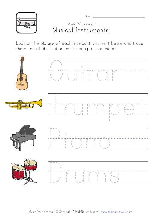 Printables  Music Worksheets For Kids  Surveillanceandeveryday
