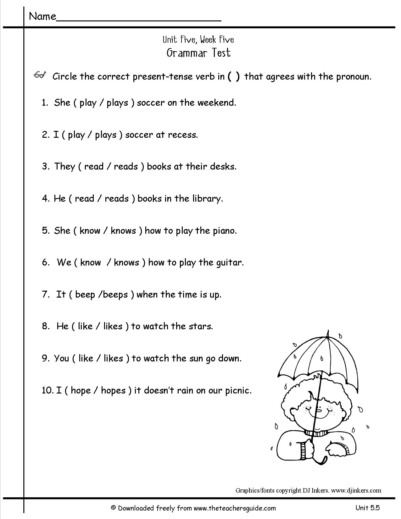 Pronoun Worksheet For 2nd Grade The Best Worksheets Image