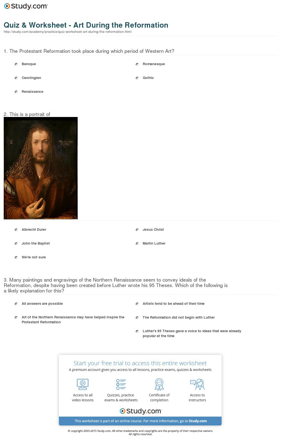Protestant Reformation Worksheets The Best Worksheets Image