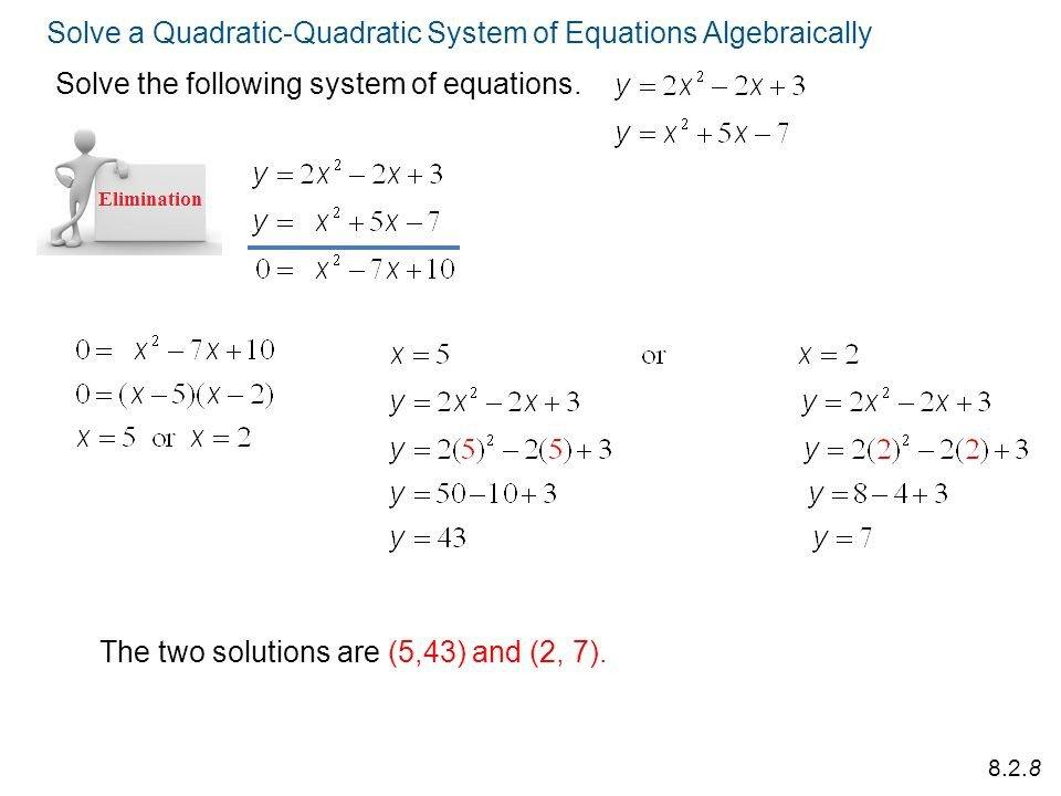Quadratic Systems Worksheets  Worksheet  Free Printable Worksheets
