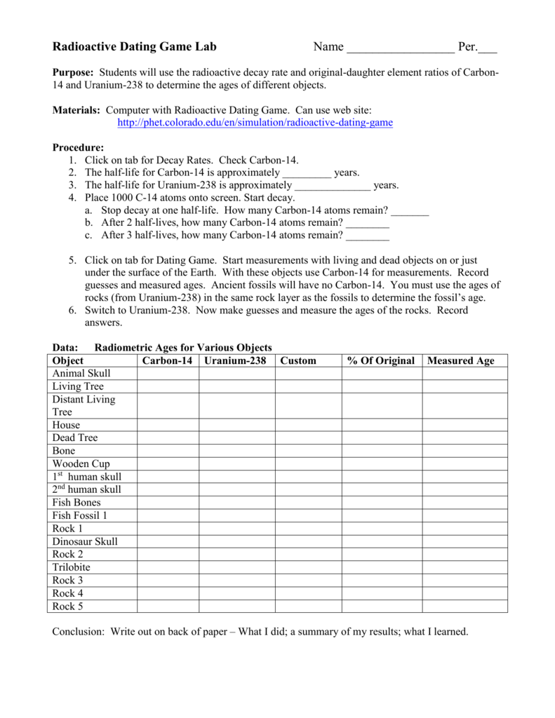 Radiometric Dating Worksheet With Answers, Build A Bibliography Or
