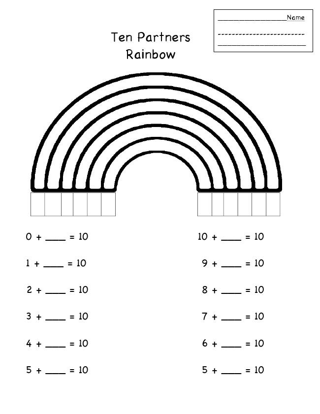 Rainbow Worksheets For Kindergarten Pdf 159234