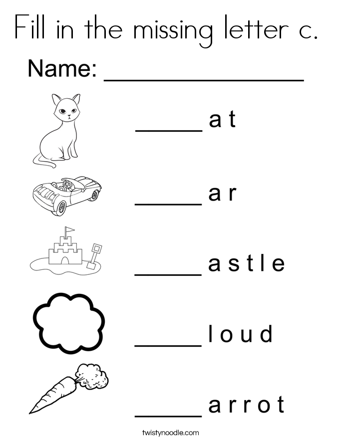 Ravishing Coloring Pages For The Letter C Preschool For Pretty