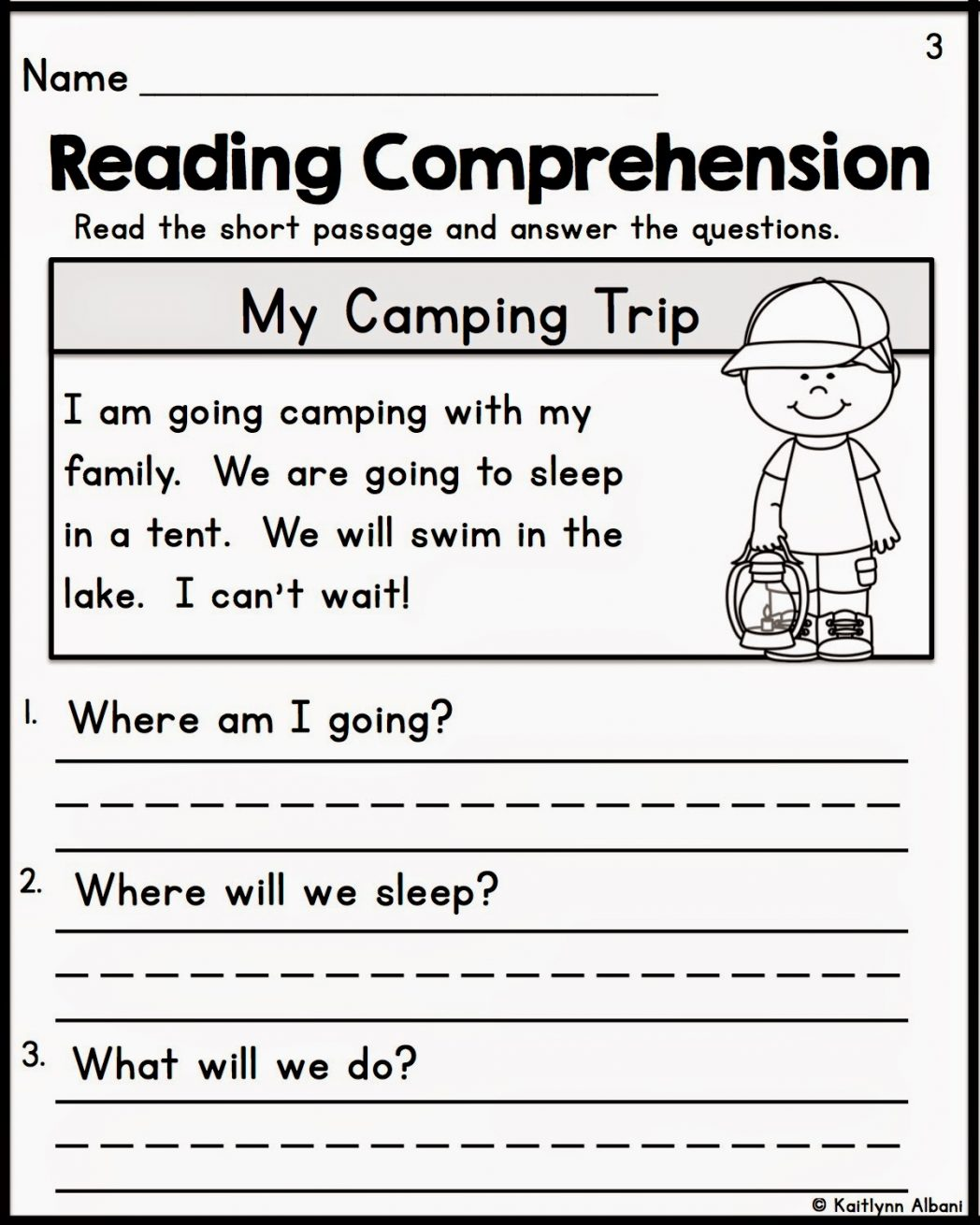 Reading Comprehension Worksheets Grade 1 246591