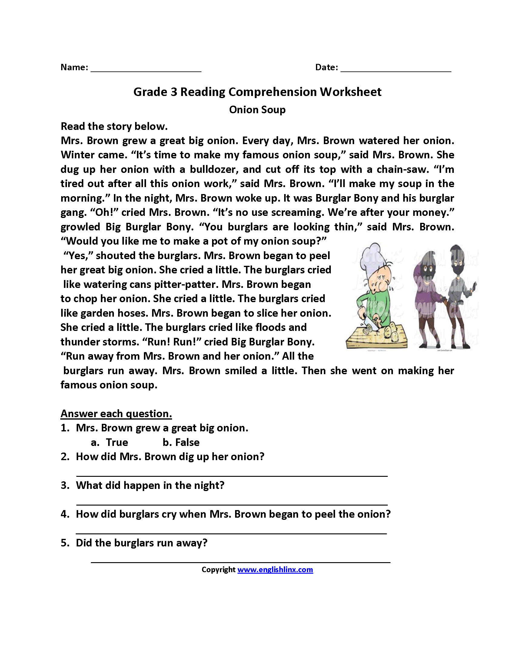 Reading Worksheets For 3rd Grade The Best Worksheets Image