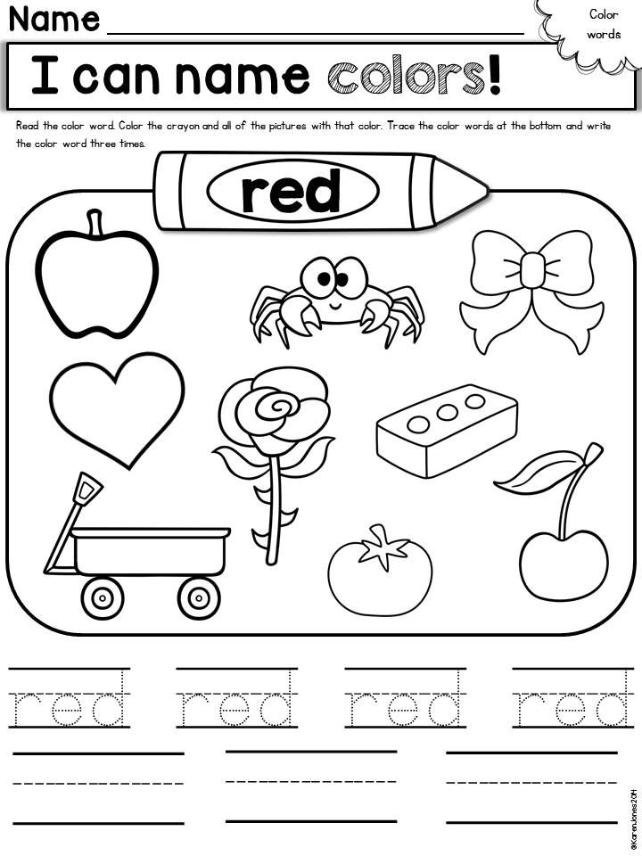 Red Coloring Pages For Toddlers 175 Best Colors Preschool Images