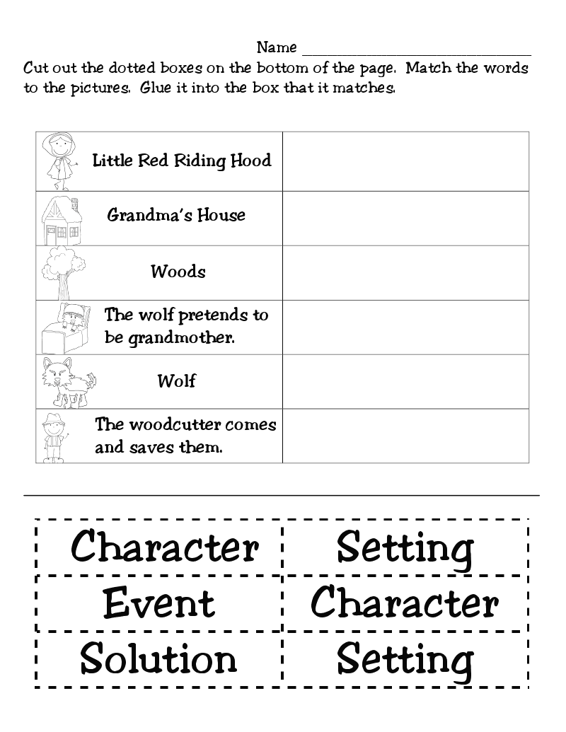 Red Riding Hood Worksheets