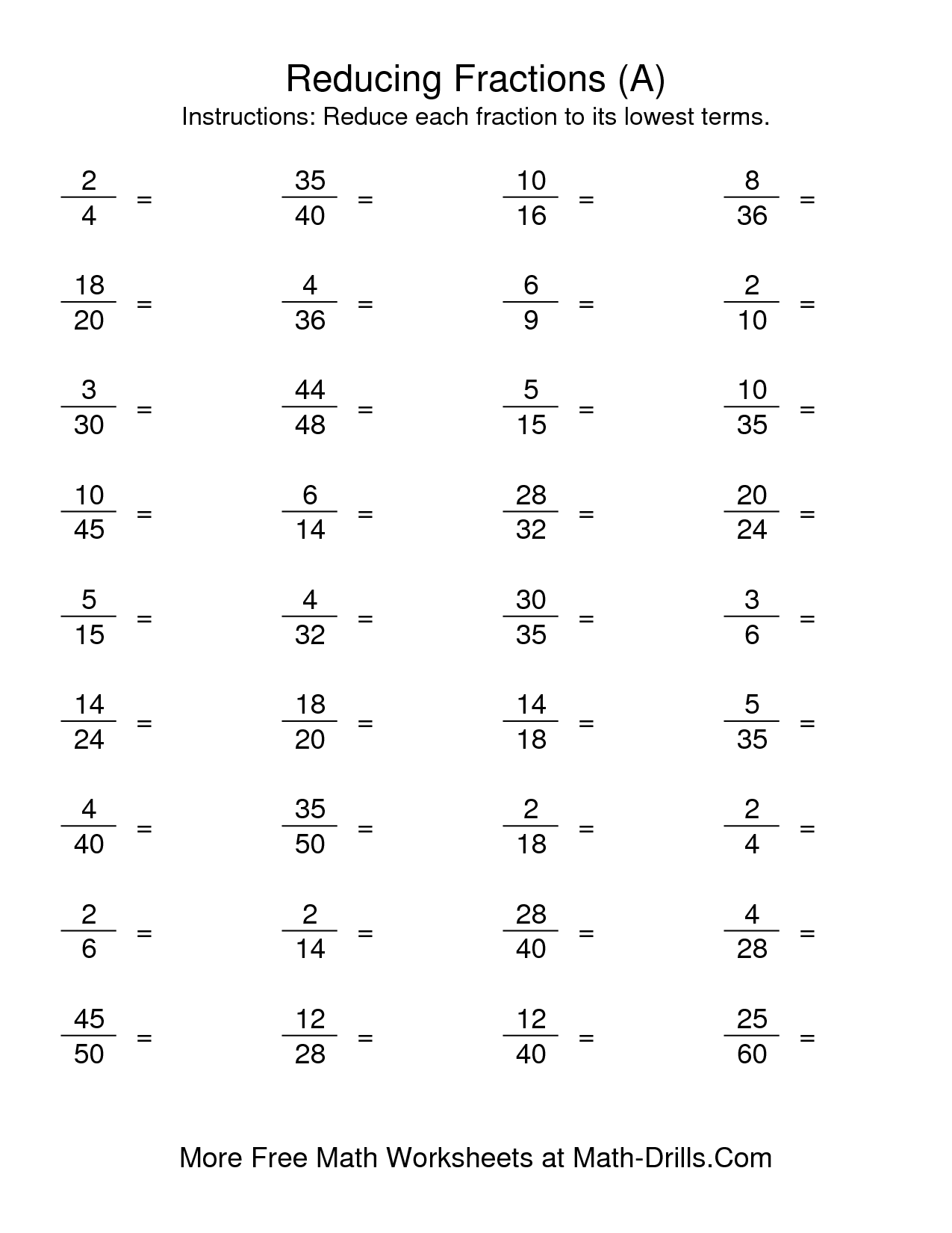 Reducing Fractions With Variables Worksheet 149738