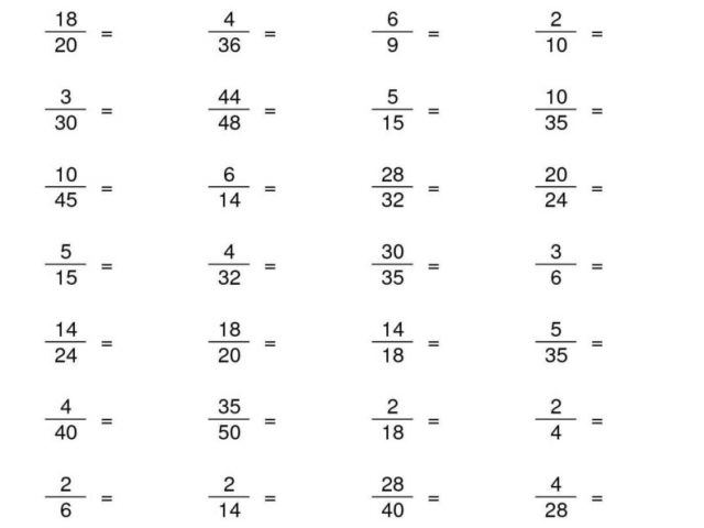 Reducing Fractions Worksheet Lowest Terms The Best Worksheets