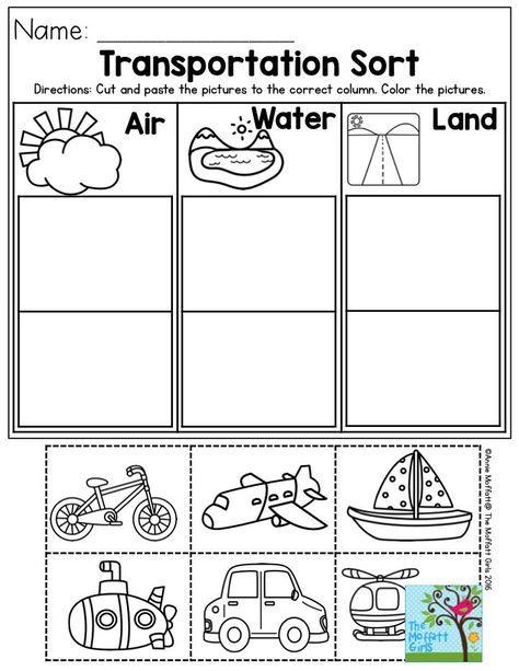 Resultado De Imagem Para Worksheet Preschool Transportation