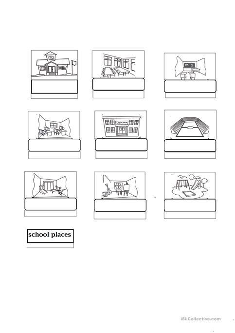 School Places Worksheet