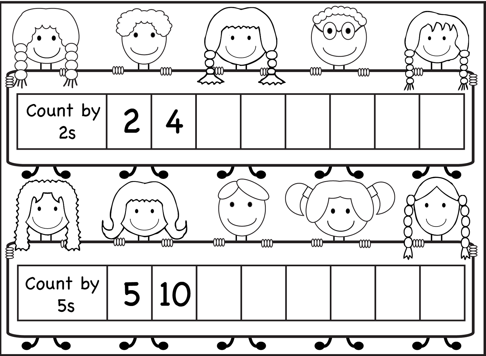 Skip Counting By 10 Worksheets For Kindergarten 1179284